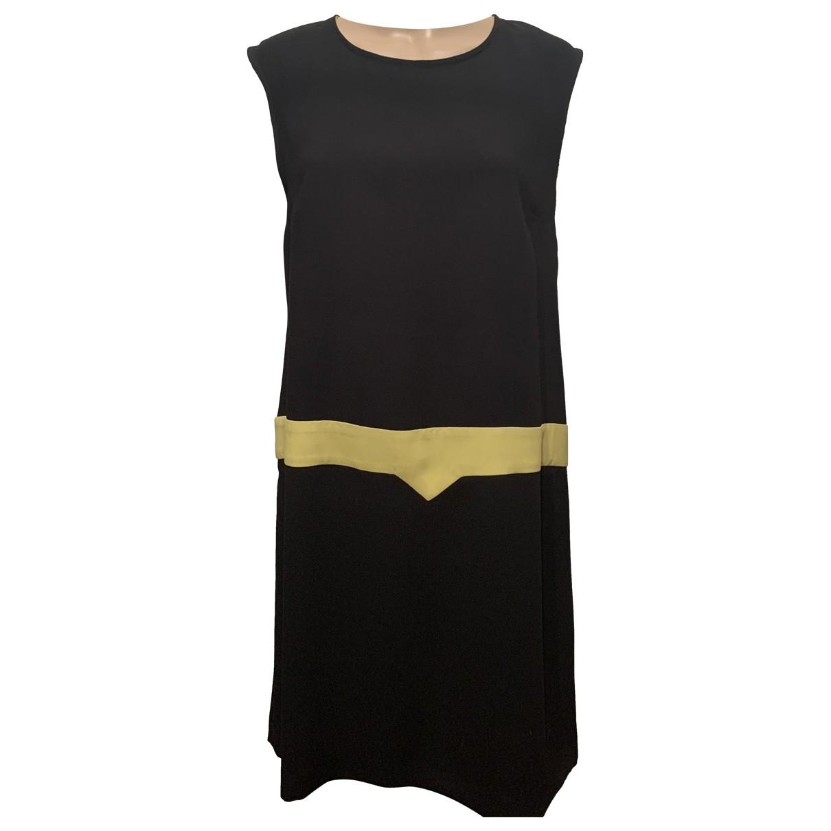 Moschino Cheap And Chic \N Kleid in  Schwarz Baumwolle