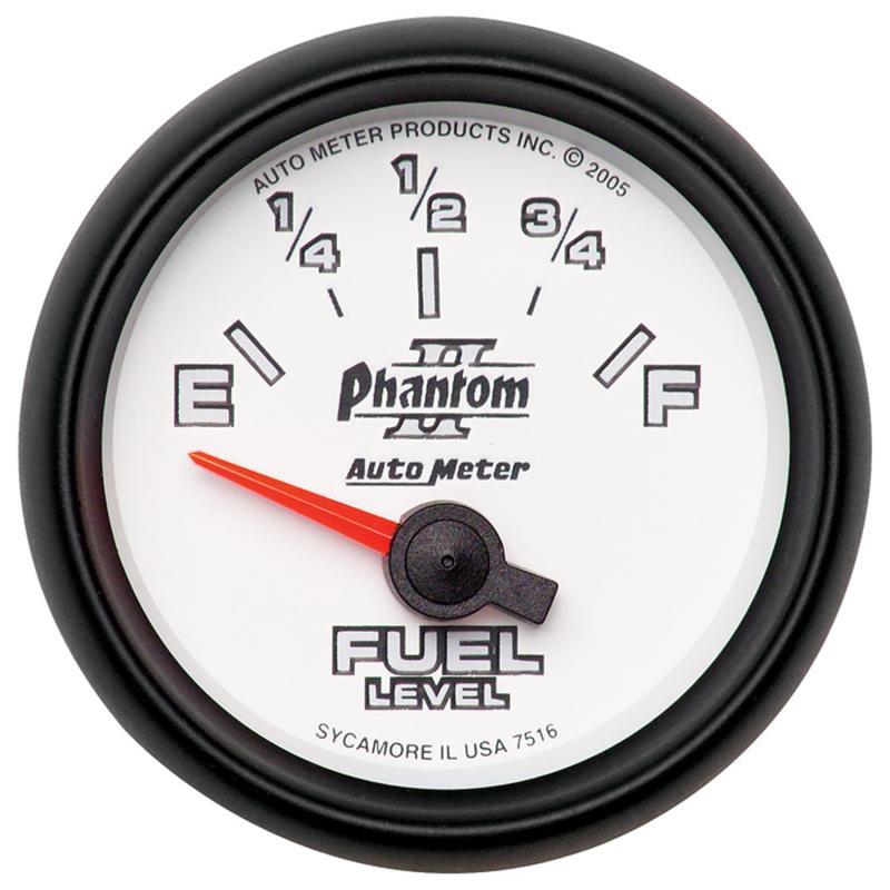 AutoMeter GAUGE; FUEL LEVEL; 2 1/16in.; 240OE TO 33OF; ELEC; PHANTOM II