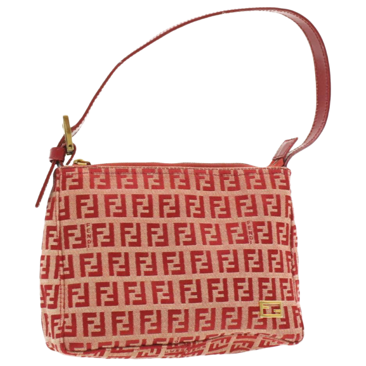 Fendi - Sac de voyage   pour femme en toile - rouge