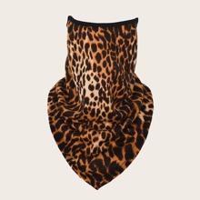 Proteccion facial solar con estampado de leopardo