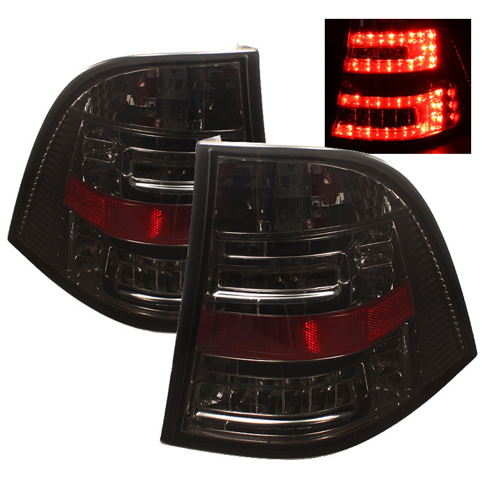 Spyder Auto ALT-YD-MBW16398-LED-SM Smoke LED Taillights Mercedes Benz W163 ML430 98-01