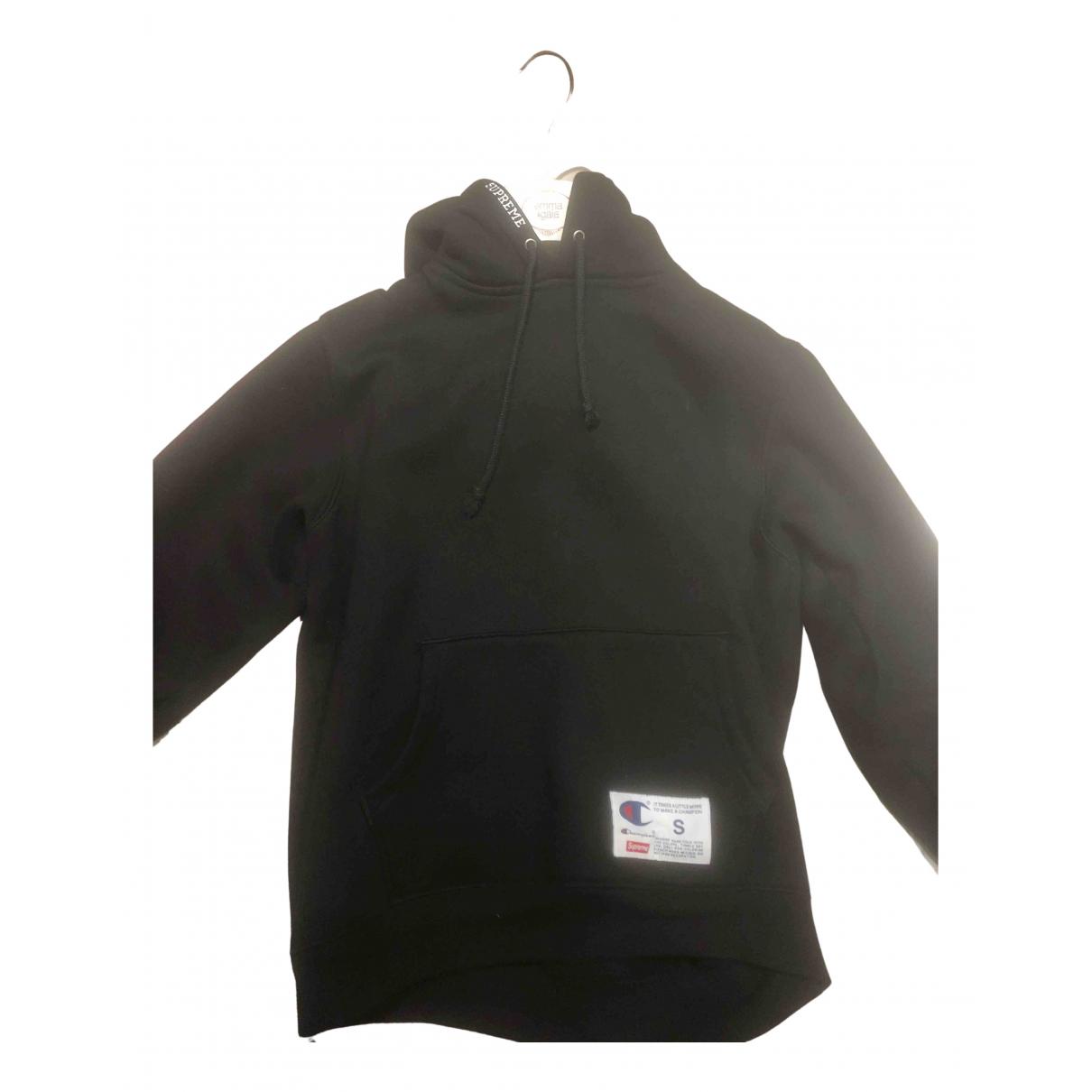 Supreme X Champion N Black Cotton Knitwear & Sweatshirts for Men S International