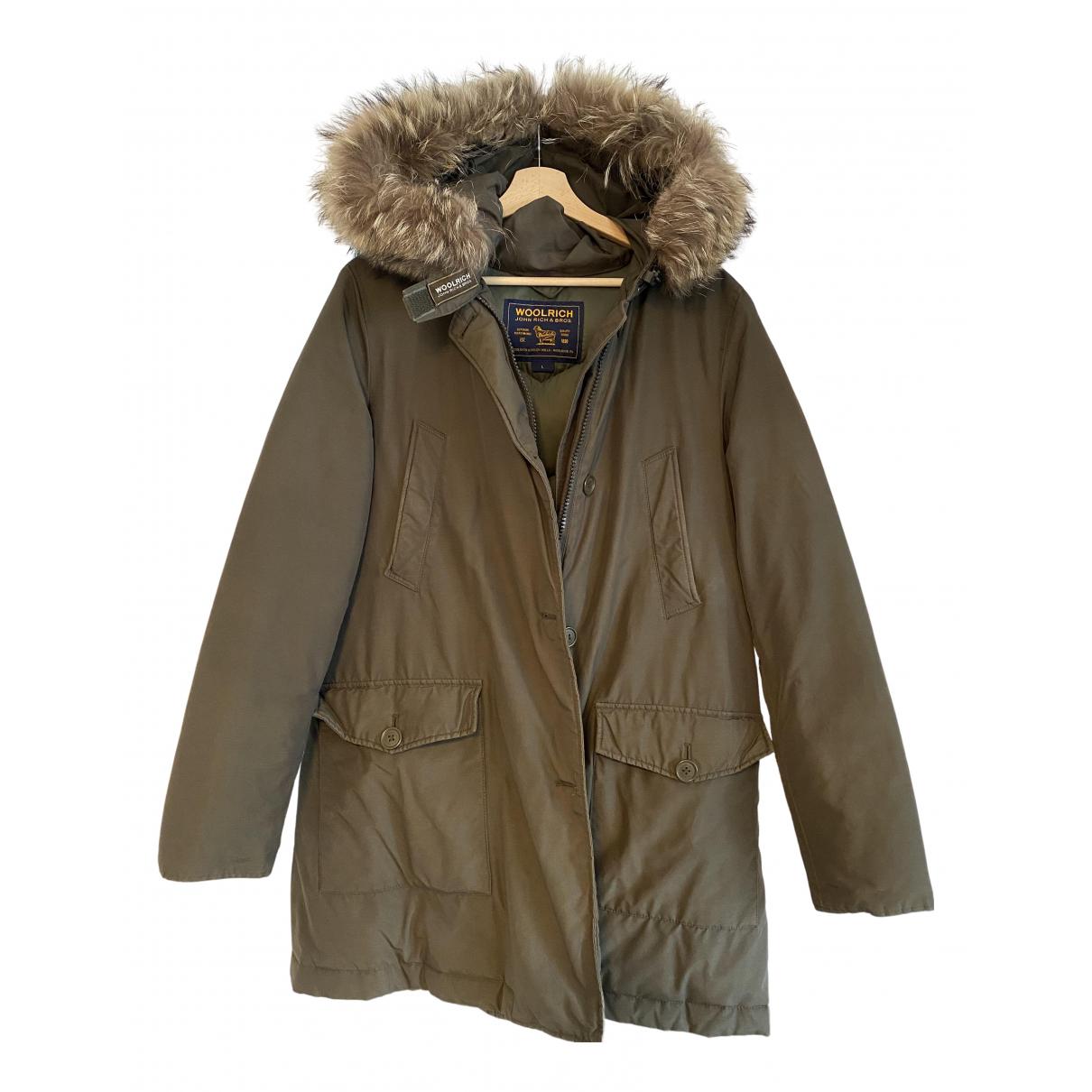 Woolrich - Manteau   pour femme en coton - vert