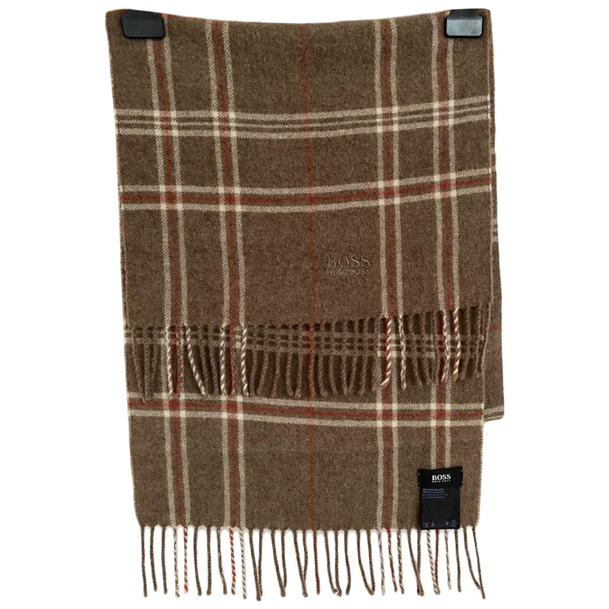 Hugo Boss \N Brown Wool scarf & pocket squares for Men \N
