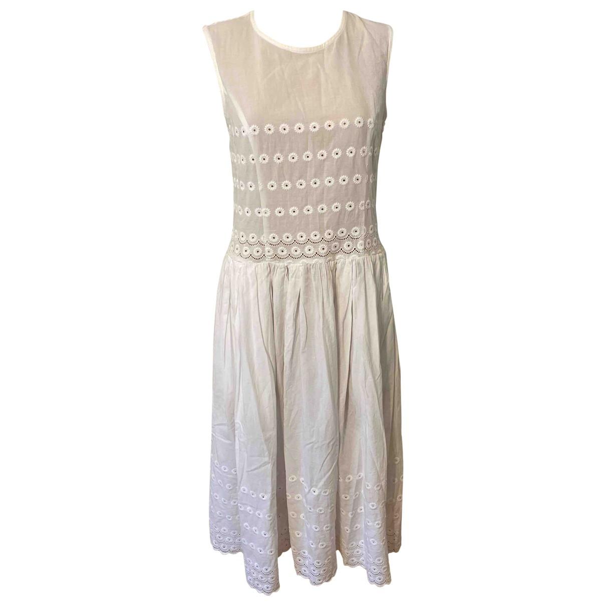 Comme Des Garcons \N Kleid in  Weiss Baumwolle