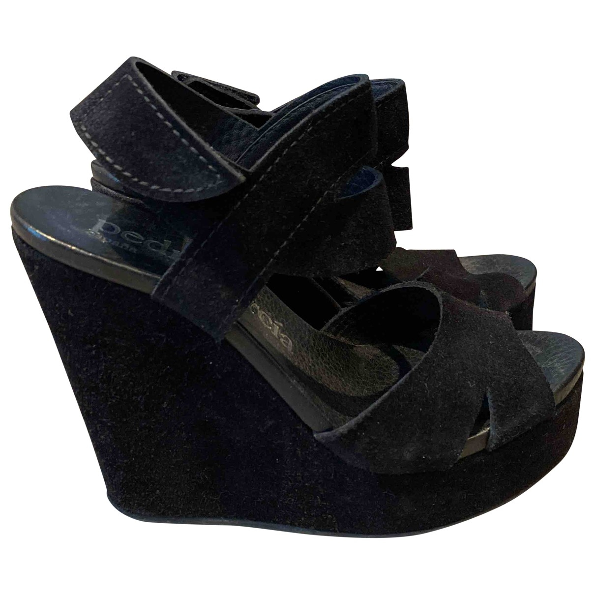 Pedro Garcia \N Black Suede Sandals for Women 37 EU