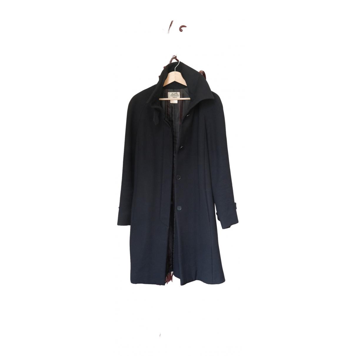 Hermes - Manteau   pour femme en laine - noir