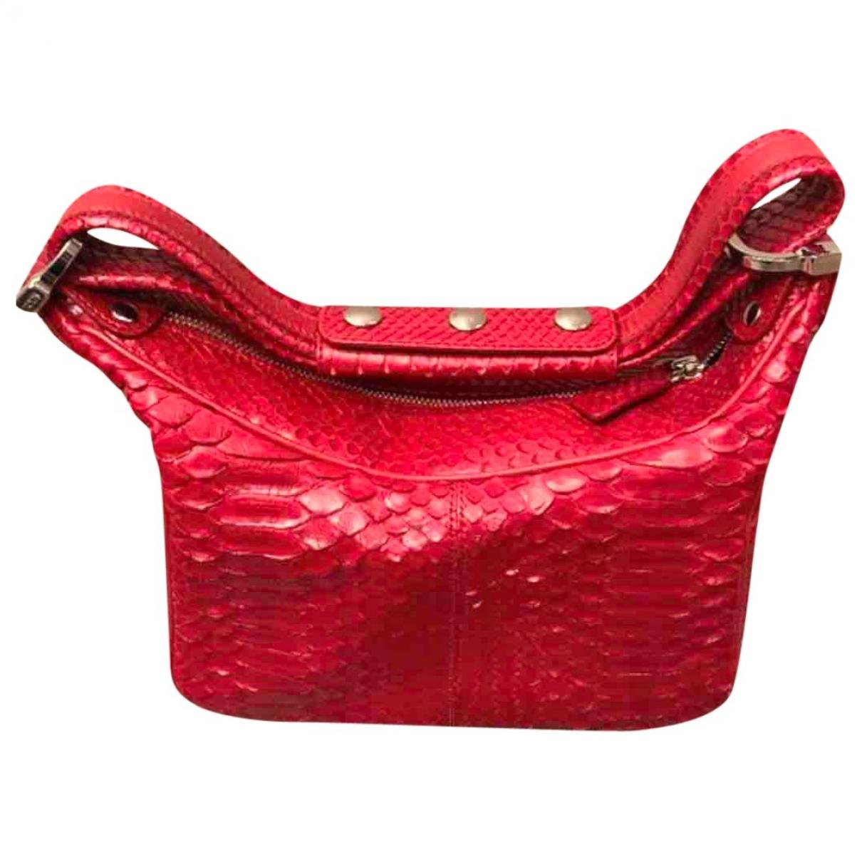 Tod's \N Red Python handbag for Women \N