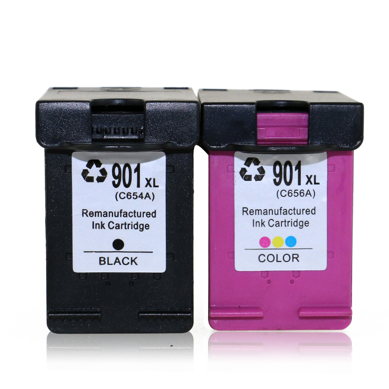 TIANSE 1 Pc HP 901 Replacement Ink Cartridge 901XL for HP 901 HP901 XL for HP Officejet 4500 J4500 J4540 J4550 J4580 J46