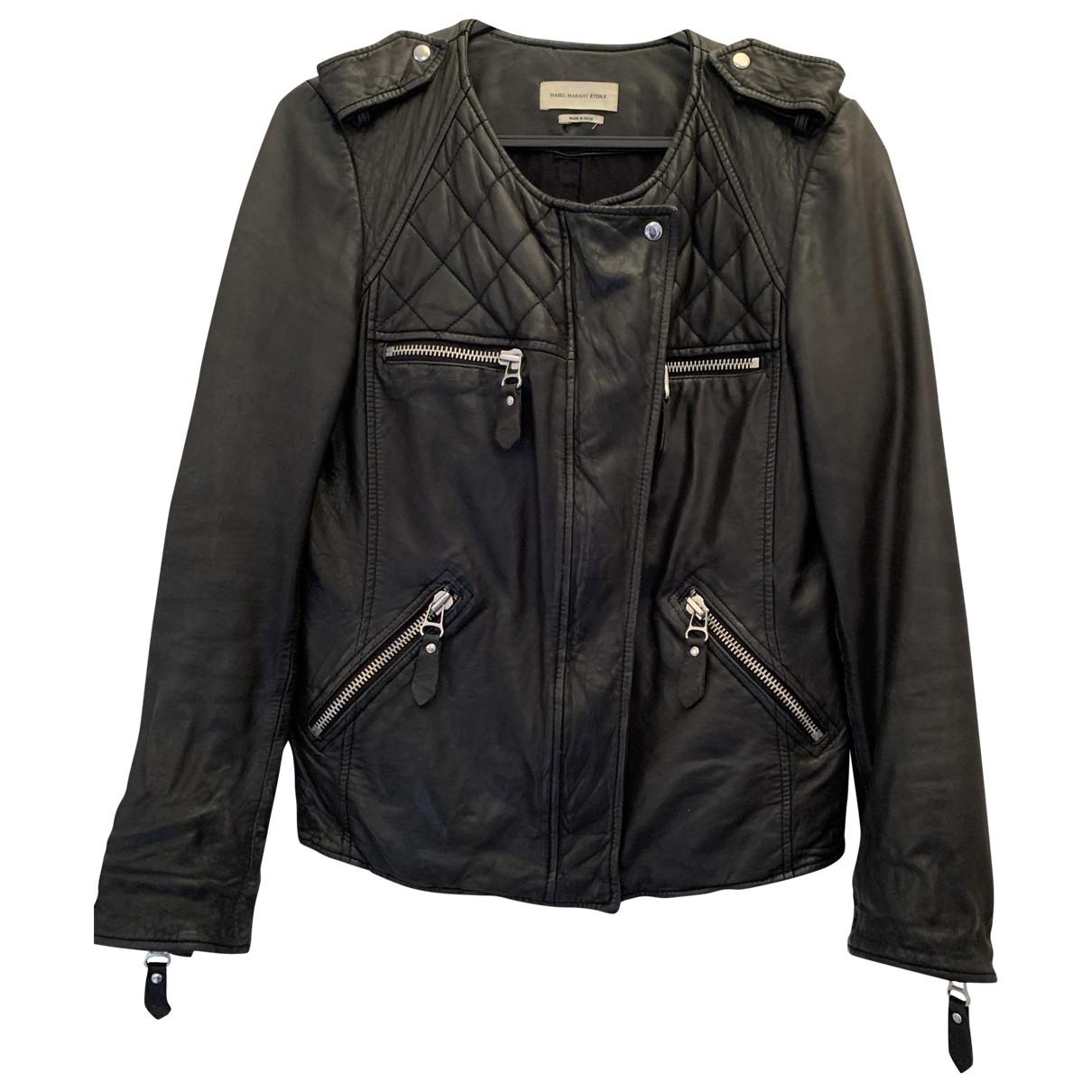 Isabel Marant Etoile \N Black Leather Leather jacket for Women 38 FR