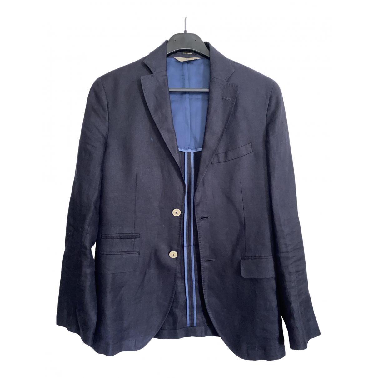 Massimo Dutti \N Blue Cotton Suits for Men 46 FR