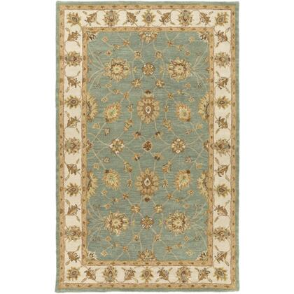 AWHR2058-811 8' x 11' Rug  in Dark Green and Grass Green and Khaki and Clay and Camel and Moss and