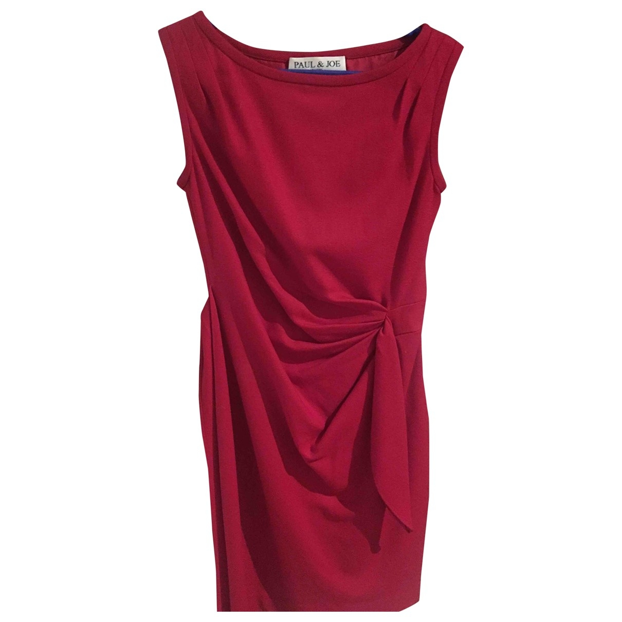 Paul & Joe - Robe   pour femme en coton - elasthane - rouge