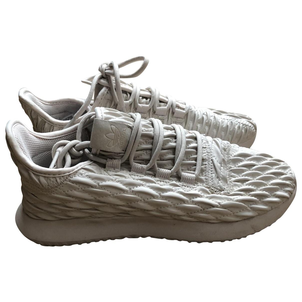 Adidas - Baskets Tubular pour femme - beige