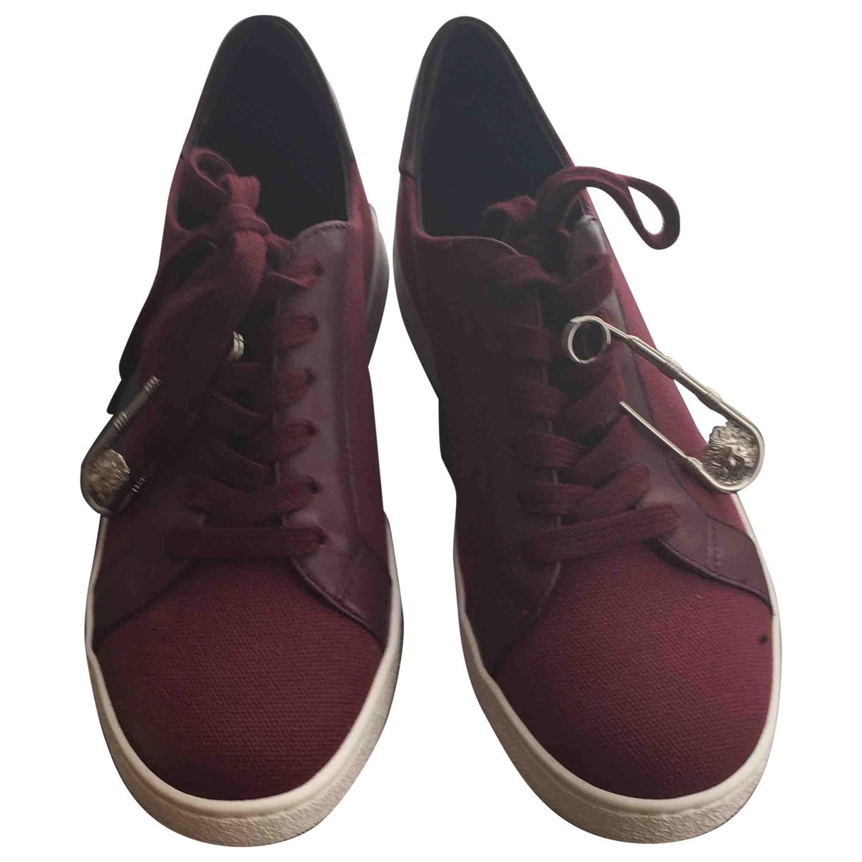 Versus \N Burgundy Cloth Trainers for Women 36 EU