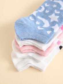 5pairs Star Pattern Socks