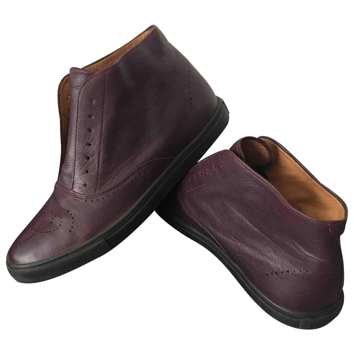 Fratelli Rossetti - Boots   pour femme en cuir - violet