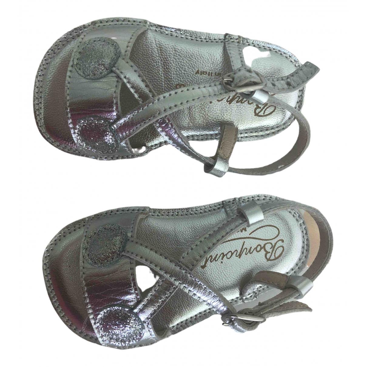 Bonpoint \N Sandalen in  Silber Leder