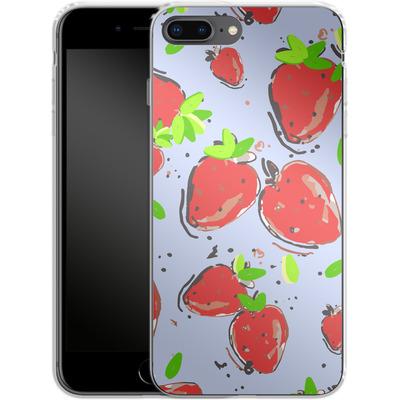 Apple iPhone 8 Plus Silikon Handyhuelle - Strawberry Crush von Mukta Lata Barua