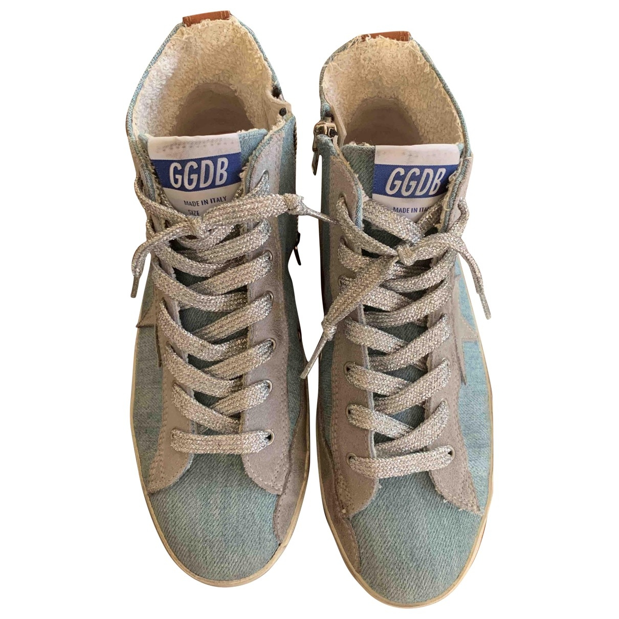 Golden Goose \N Turquoise Cloth Trainers for Women 35 EU