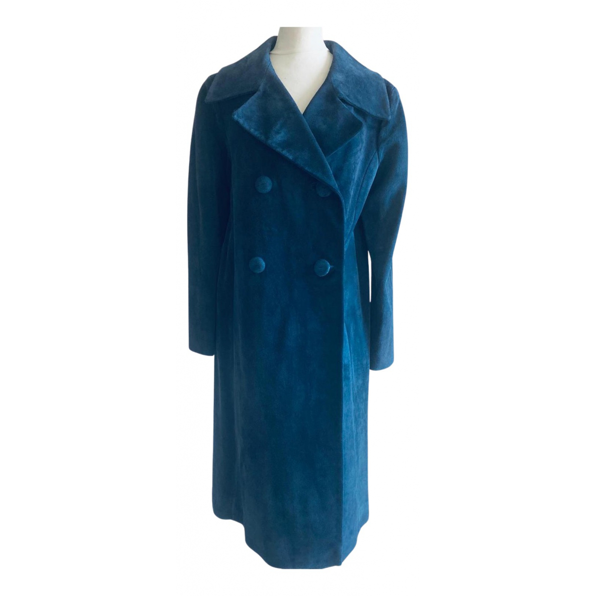 Non Signe / Unsigned \N Trench in  Blau Leder