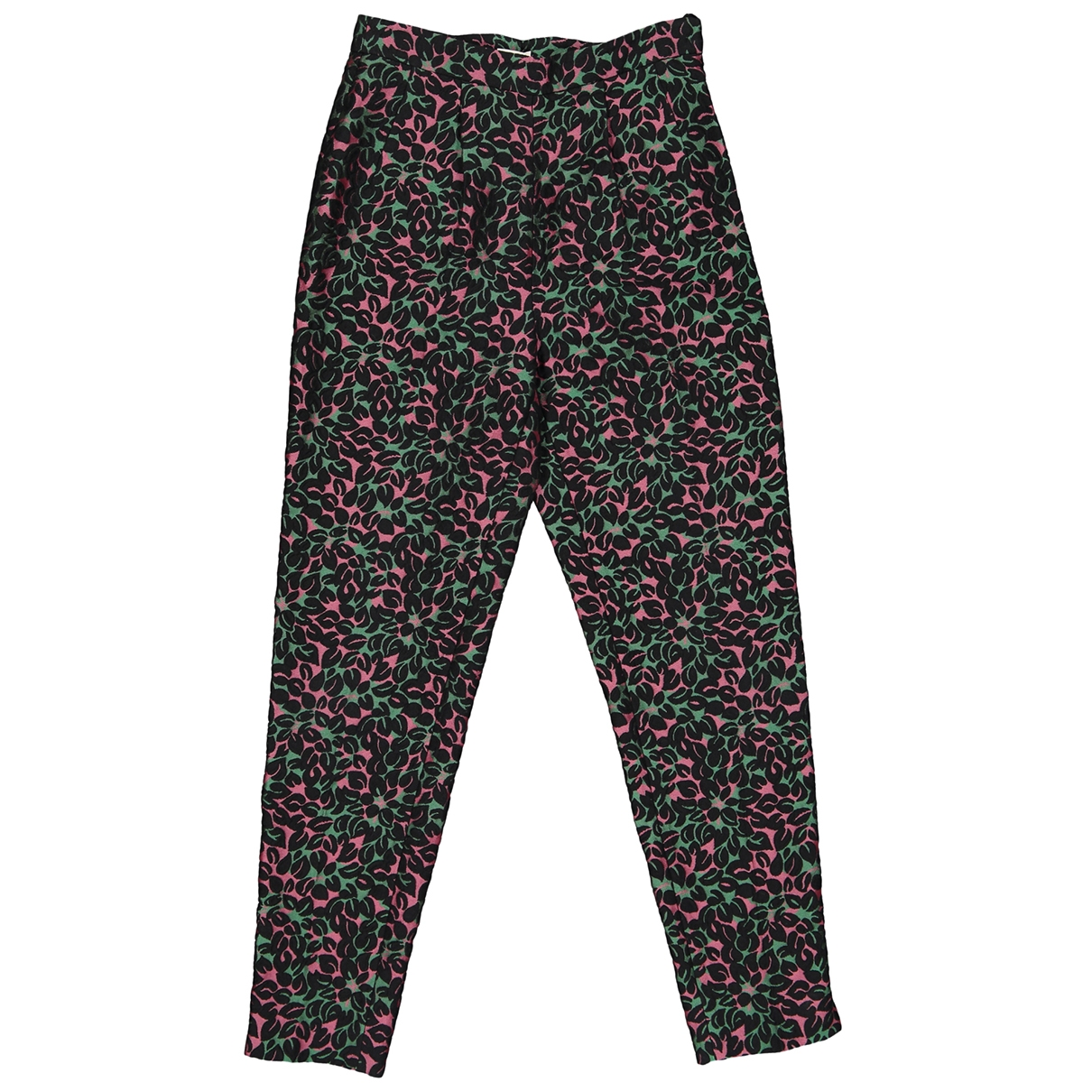 Miu Miu \N Multicolour Cotton Trousers for Women 38 IT