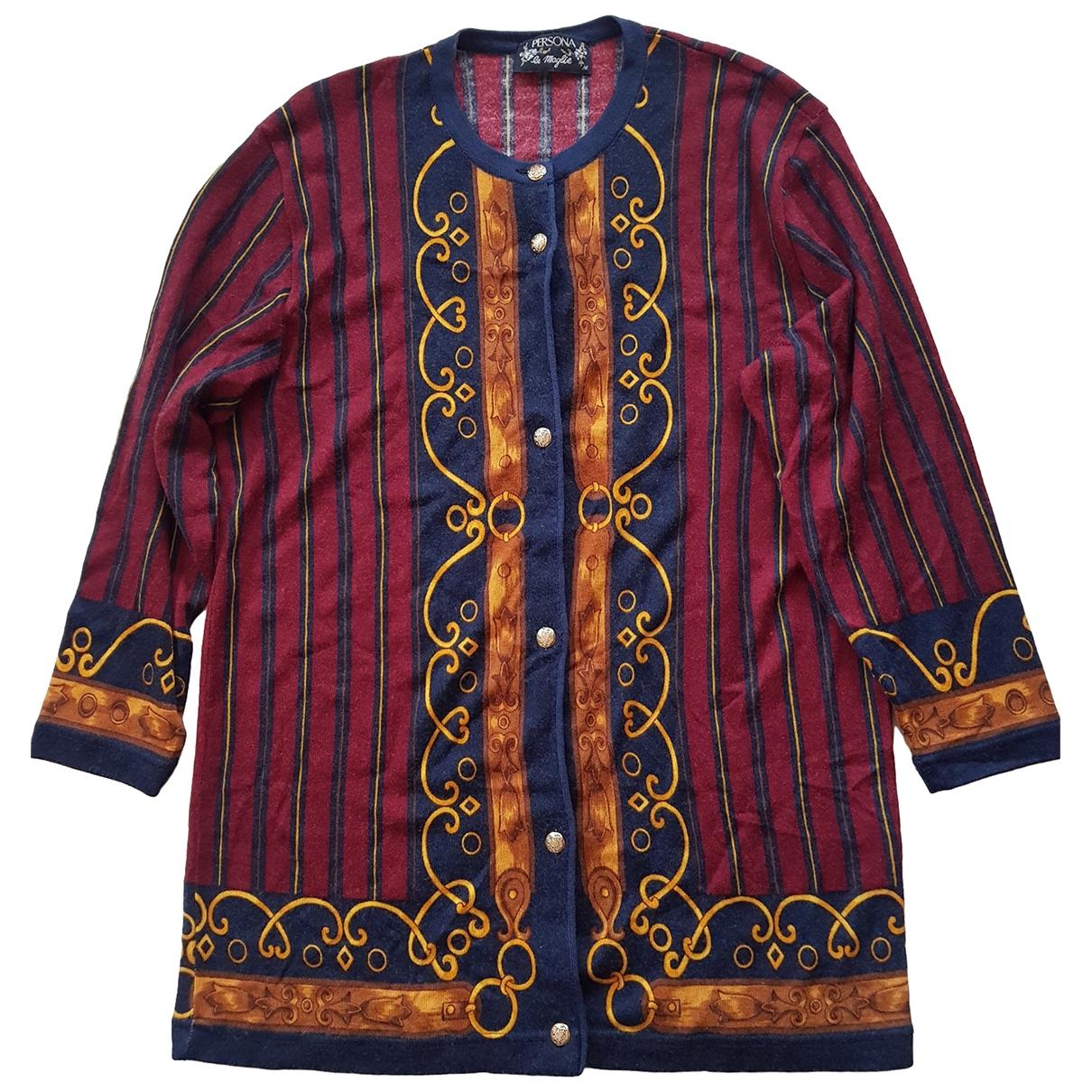 - Pull   pour femme en laine - bordeaux