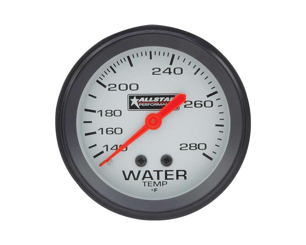 Allstar Performance ALL80096 ALL Water Temp Gauge 140-280F 2-5/8in ALL80096