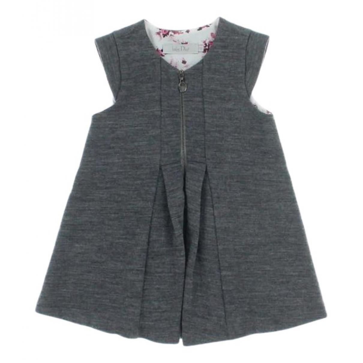 Baby Dior - Robe    pour enfant en laine - gris