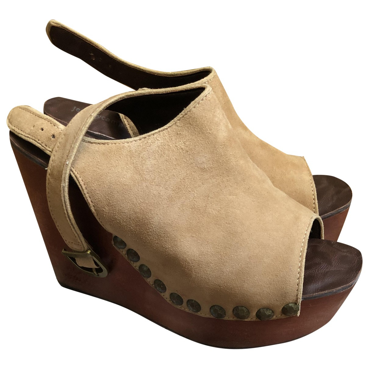 Jeffrey Campbell \N Clogs in  Kamel Veloursleder