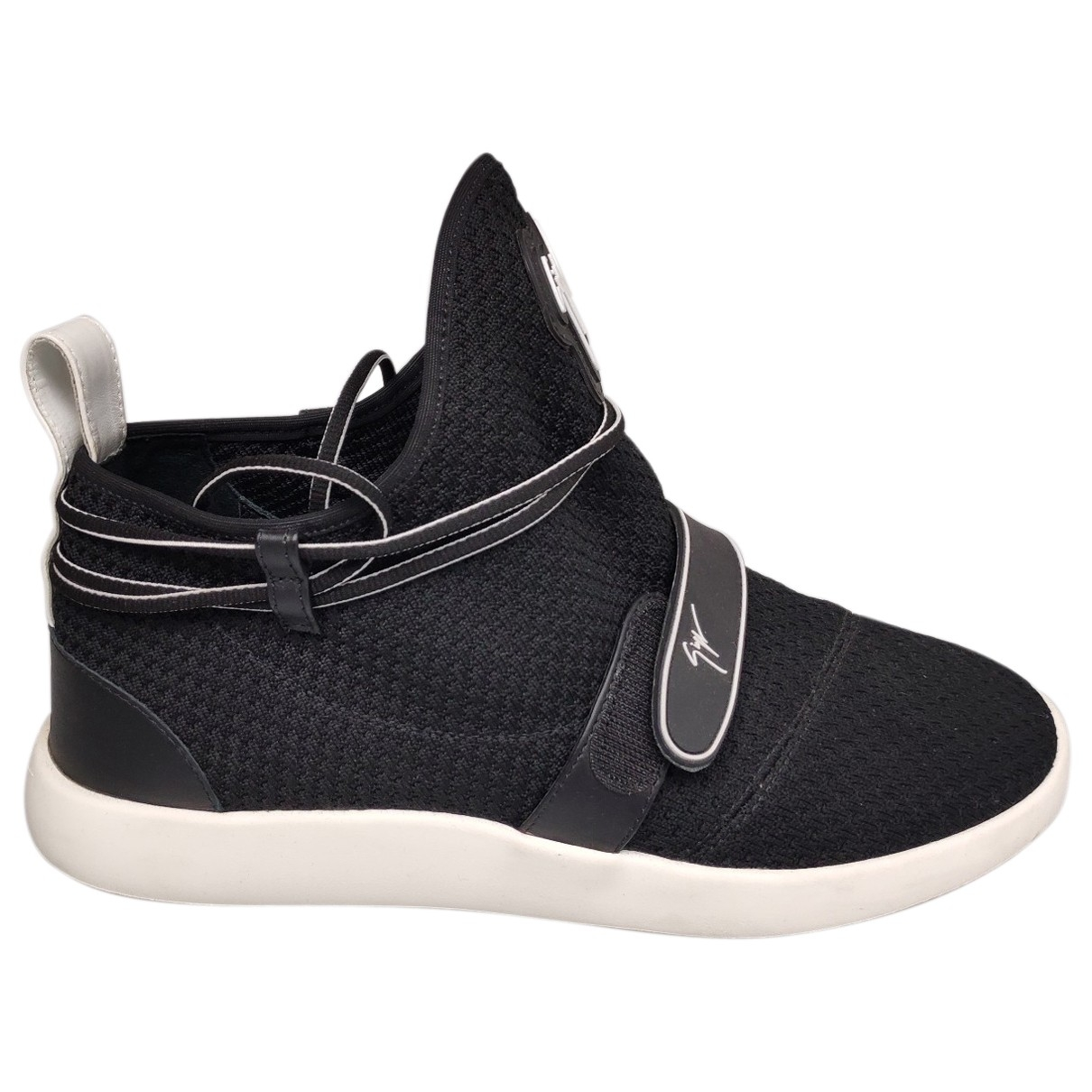Giuseppe Zanotti \N Black Cloth Trainers for Men 43 EU
