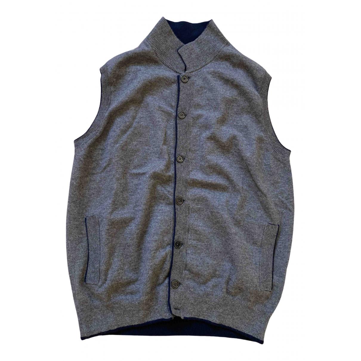Eleventy \N Pullover.Westen.Sweatshirts  in  Grau Wolle