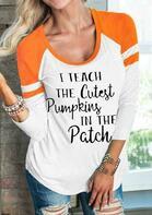 I Teach The Cutest Pumpkins Baseball T-Shirt