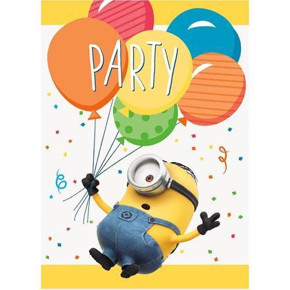 Universal Minions Invitations Despicable Me 8Pcs Pour la fête d'anniversaire
