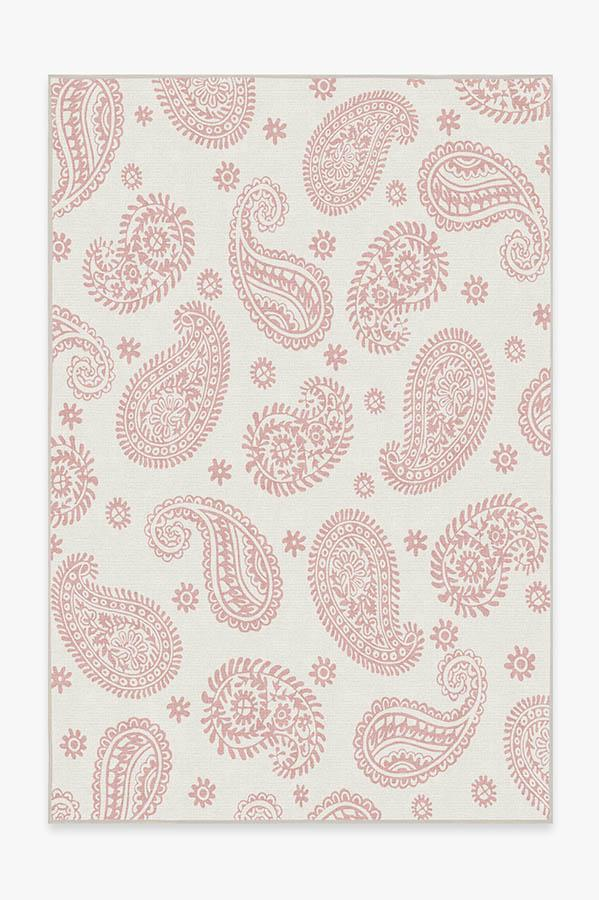 Washable Rug Cover & Pad | Araveli Soft Pink Rug | Stain-Resistant | Ruggable | 6'x9'