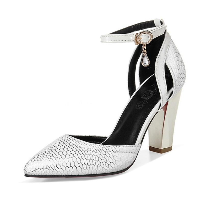 Ericdress Rhinestone Pointed Toe Buckle Casual Thin Shoes