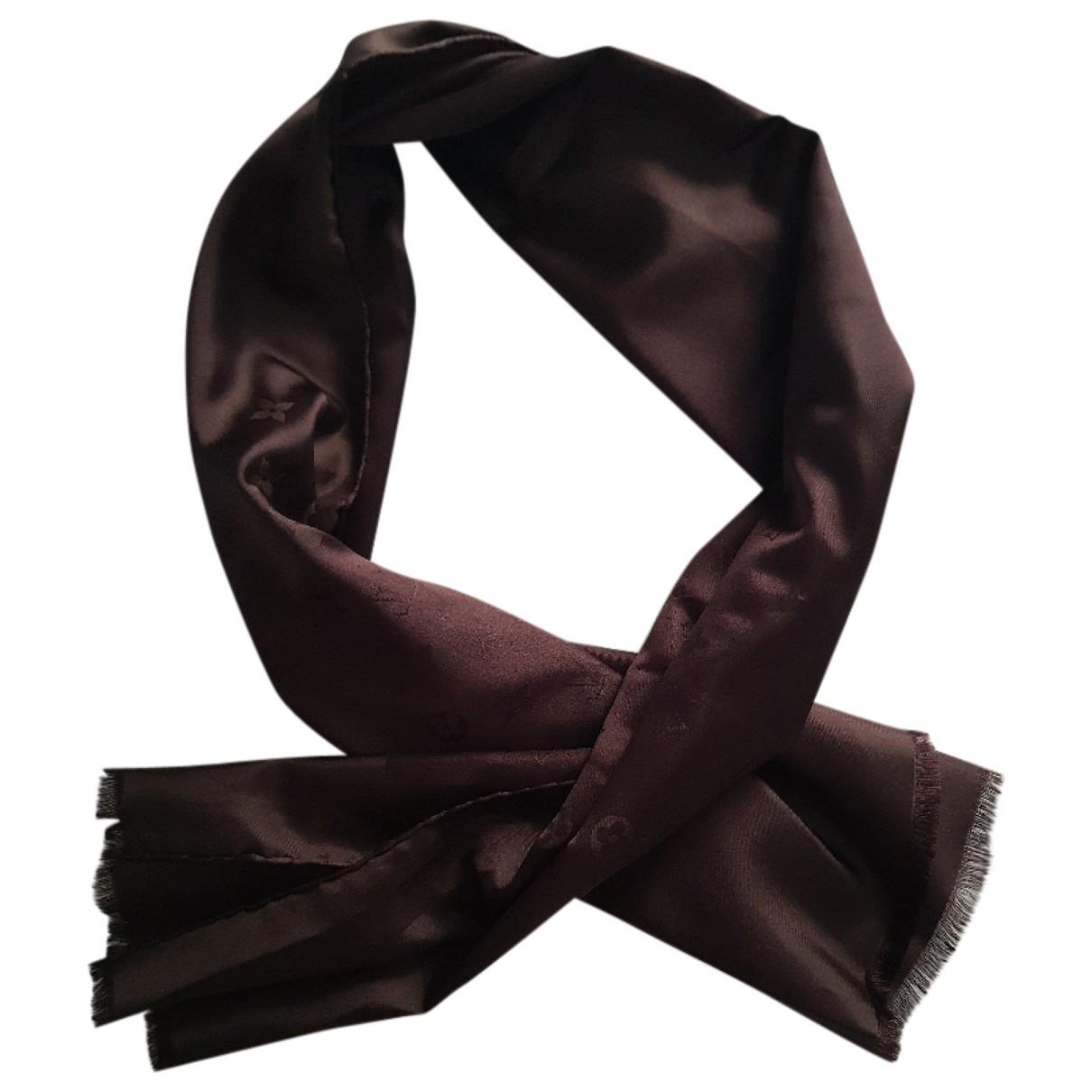 Louis Vuitton - Foulard   pour femme en soie - marron