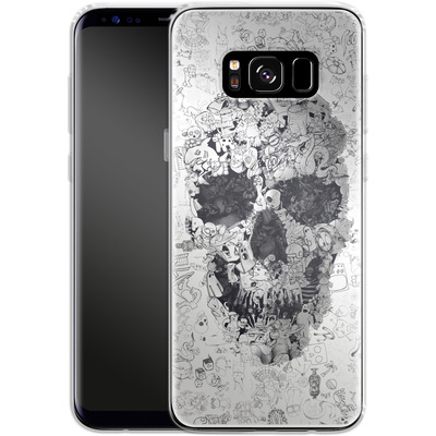 Samsung Galaxy S8 Silikon Handyhuelle - Doodle Skull von Ali Gulec