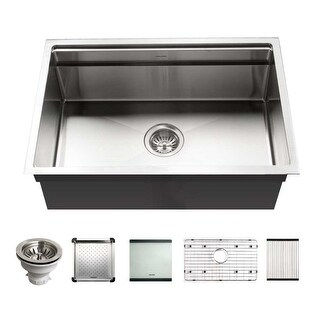 Houzer NVS-2600 Novus 26 Undermount Single Basin Stainless Steel - Stainless Steel (Stainless Steel)