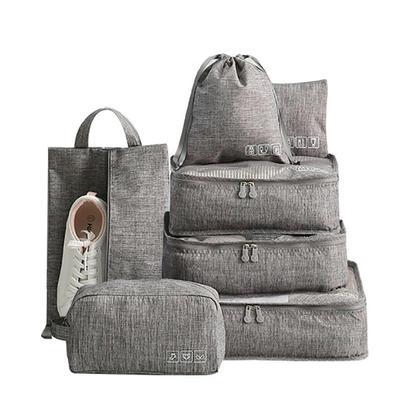 We Remain Open Ensemble de 7 bagages à cubes d'emballage, gris