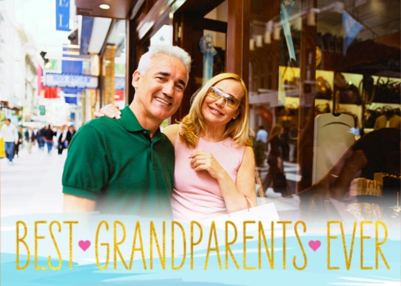 Grandparents Day 5x7 Folded Cards, Standard Cardstock 85lb, Card & Stationery -Best Grandparents Ever