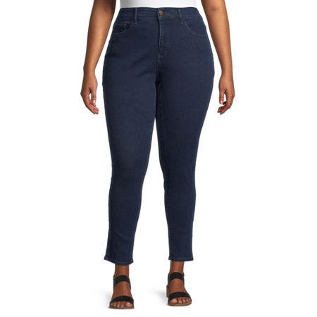 a.n.a Womens High Rise Skinny Jeggings, 22w , Blue