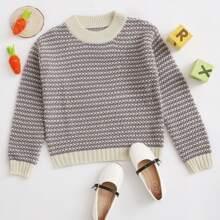 Girls Space Dye Crew Neck Sweater