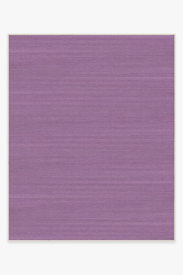 Washable Rug Cover & Pad | Solid Tonal Lavender Rug | Stain-Resistant | Ruggable | 8x10