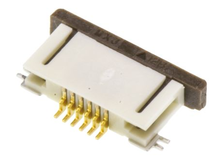 Molex Easy-On 52746 Series 0.5mm Pitch 6 Way Right Angle SMT Female FPC Connector, ZIF Bottom Contact (10)
