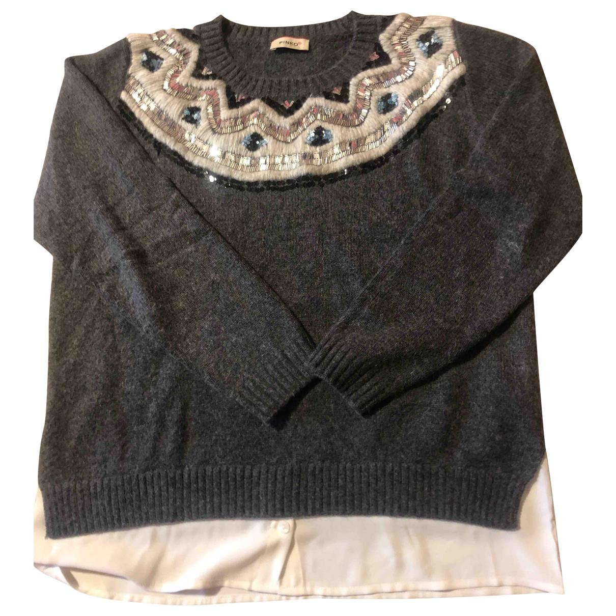 Pinko \N Pullover, StrickJacke in  Grau Wolle