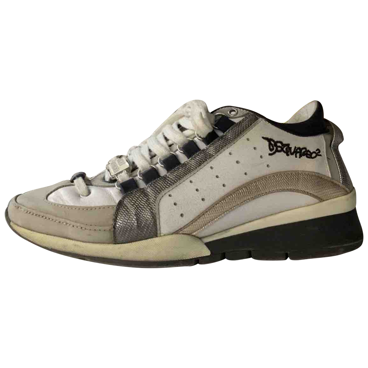 Dsquared2 \N White Leather Trainers for Women 38 IT