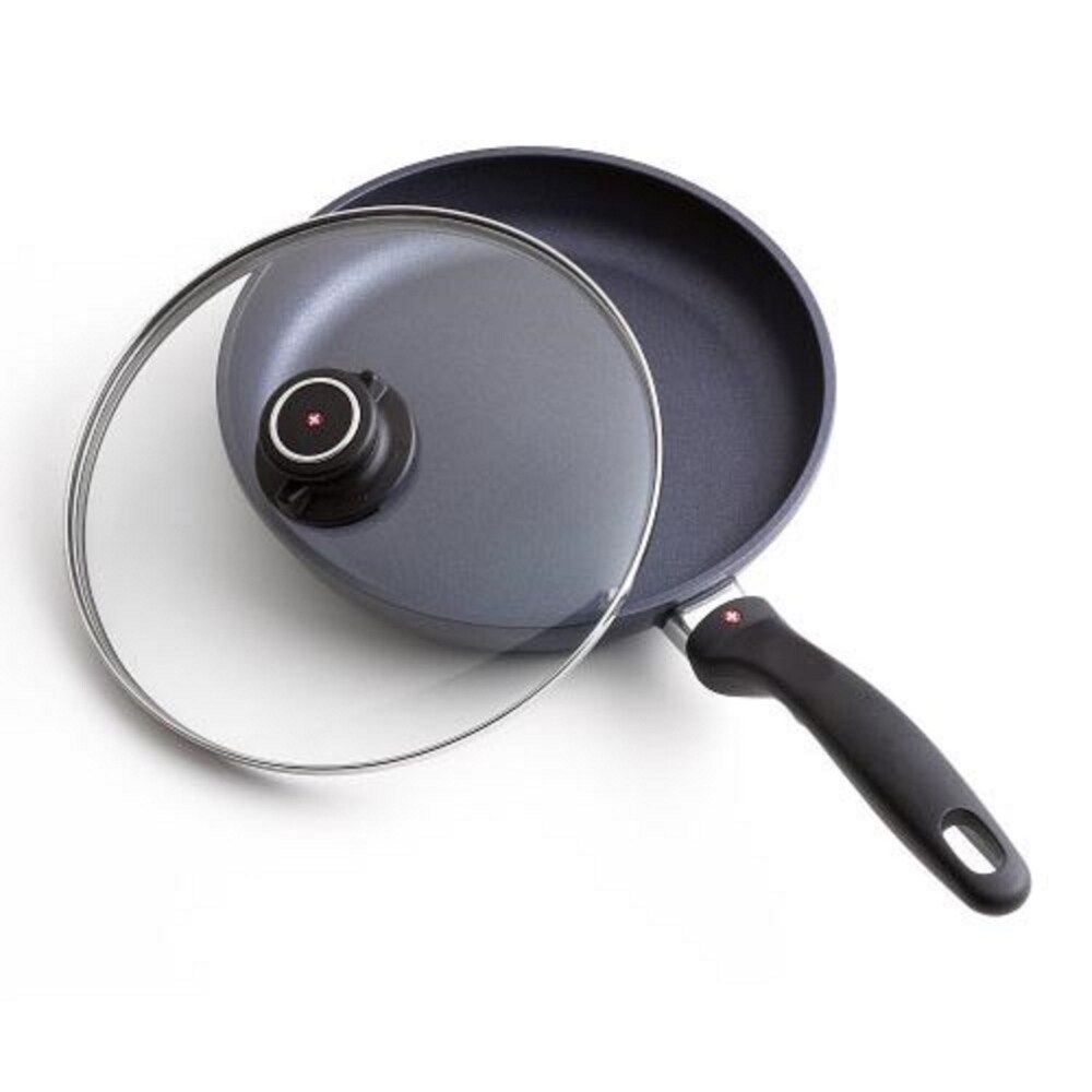 Swiss Diamond 10.25-inch Nonstick Fry Pan w/ Lid (Black)