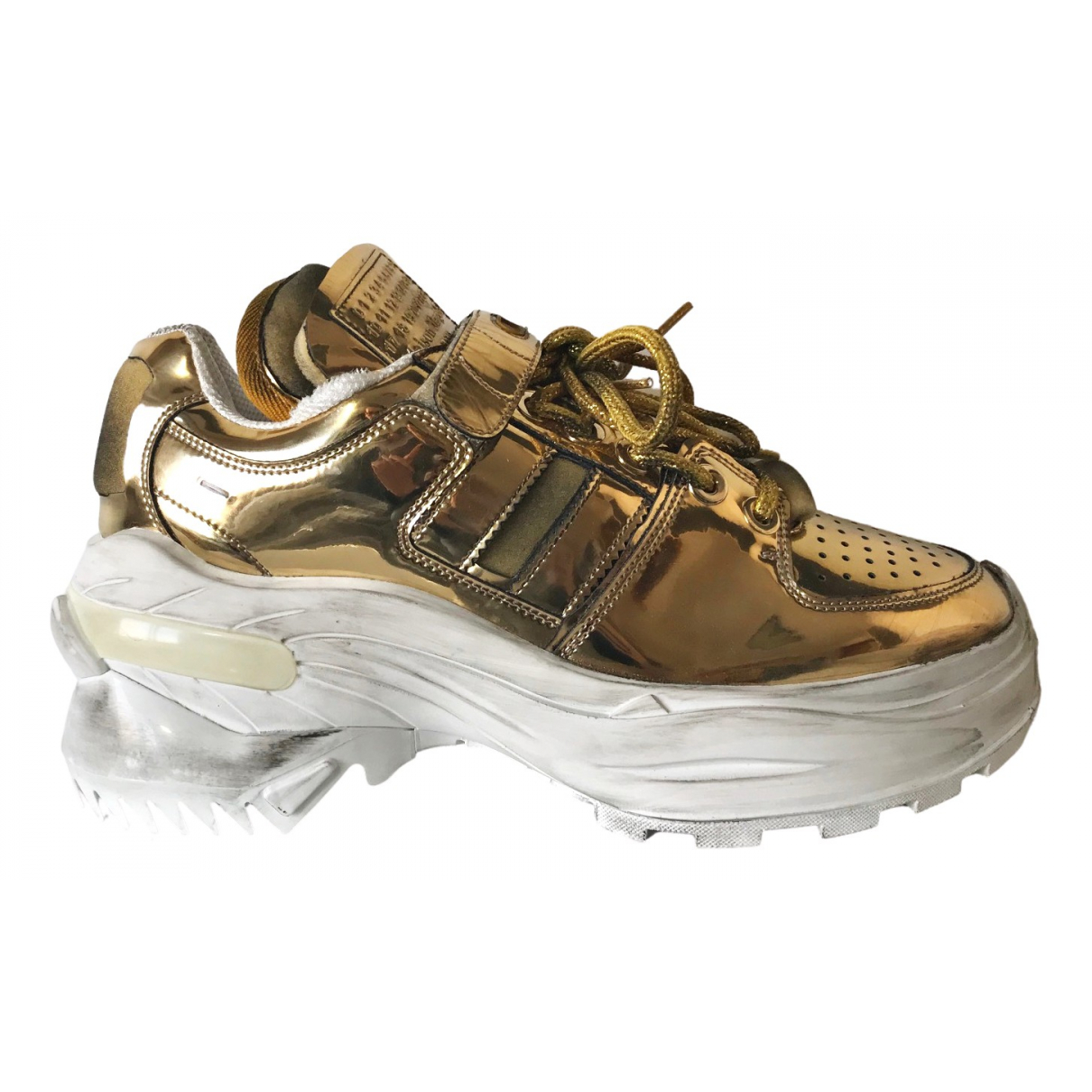 Maison Martin Margiela \N Sneakers in  Metallic Lackleder