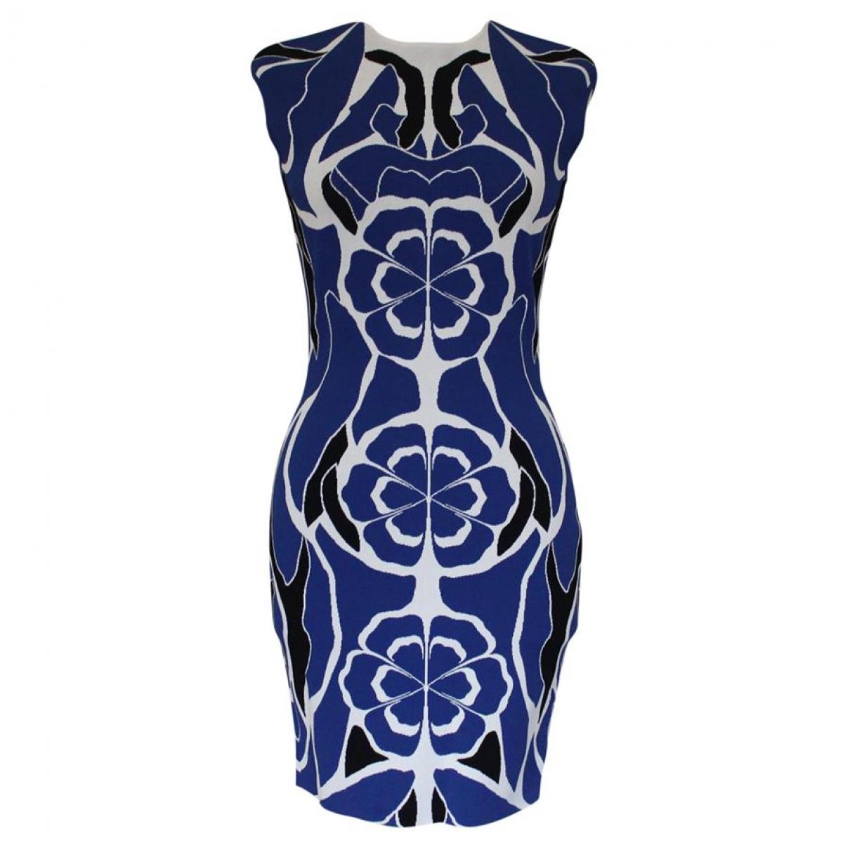 Alexander Mcqueen - Robe   pour femme - bleu